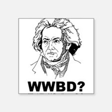 """What Would Beethoven Do Square Sticker 3"""" x 3"""""""