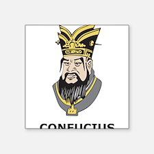 """Confucius Square Sticker 3"""" x 3"""""""