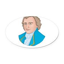 John Adams Oval Car Magnet