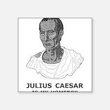 """Julius Caesar Is My Homeboy Square Sticker 3"""" x 3"""""""