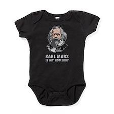 Karl Marx Is My Homeboy Baby Bodysuit