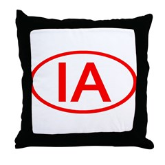 IA Oval - Iowa Throw Pillow