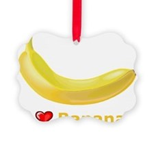 I Love Banana Ornament