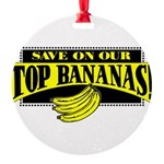 Top Bananas Round Ornament