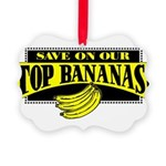 Top Bananas Picture Ornament