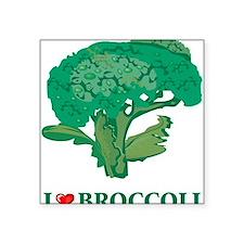 """I Love Broccoli Square Sticker 3"""" x 3"""""""