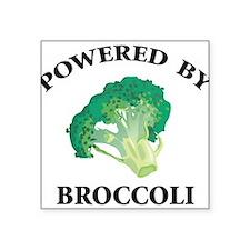"Powered By Broccoli Square Sticker 3"" x 3"""