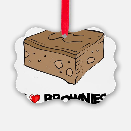 I Love Brownie Ornament