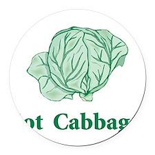 Got Cabbage Round Car Magnet