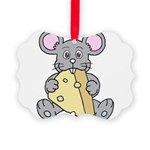 Mouse & Cheese Picture Ornament