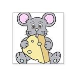 Mouse & Cheese Square Sticker 3