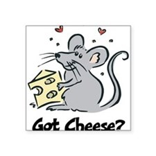 "Mouse & Cheese Square Sticker 3"" x 3"""