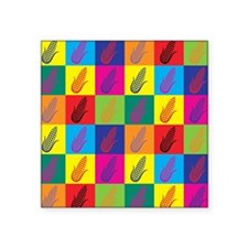 "Pop Art Corn Square Sticker 3"" x 3"""