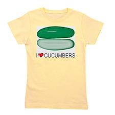 I Love Cucumber Girl's Tee