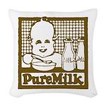 Vintage Pure Milk Woven Throw Pillow