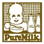 Vintage Pure Milk Square Car Magnet 3