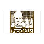 Vintage Pure Milk Rectangle Car Magnet