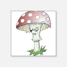"Gothic Mushroom Square Sticker 3"" x 3"""