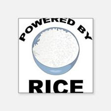 """Powered By Rice Square Sticker 3"""" x 3"""""""