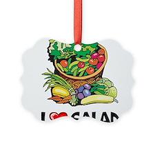 I Love Salad Ornament