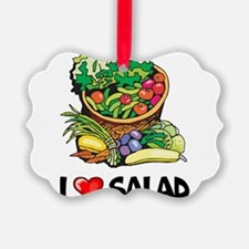 I Love Salad Ornament