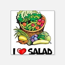"I Love Salad Square Sticker 3"" x 3"""