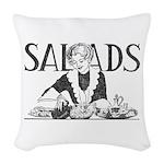 Retro Salad Woven Throw Pillow