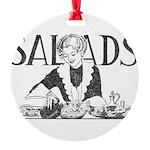 Retro Salad Round Ornament