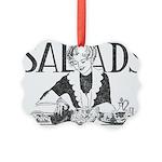 Retro Salad Picture Ornament