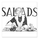 Retro Salad Square Car Magnet 3
