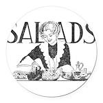 Retro Salad Round Car Magnet