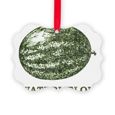 Vintage Watermelon Picture Ornament