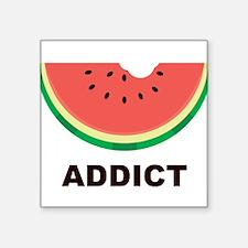 """Watermelon Addict Square Sticker 3"""" x 3"""""""