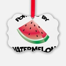 Powered By Watermelon Picture Ornament
