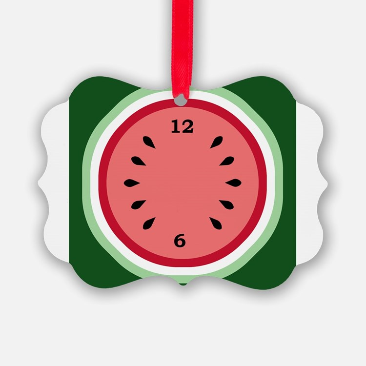 Cute Watermelon Picture Ornament