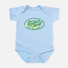 Beach Flop-Flops Gotcha Green Infant Bodysuit