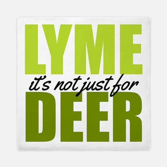 Lyme its not just for deer Queen Duvet