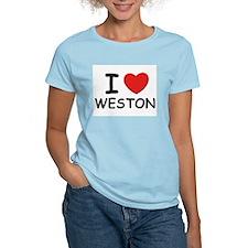 I love Weston Women's Pink T-Shirt