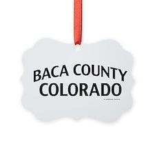 Baca County Colorado Ornament