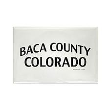 Baca County Colorado Rectangle Magnet