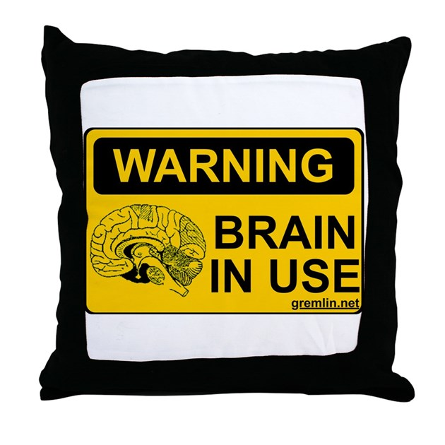 Throw Pillow Uses : Brain in Use Throw Pillow by wastedinc