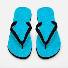 Blue Parchment Look Flip Flops