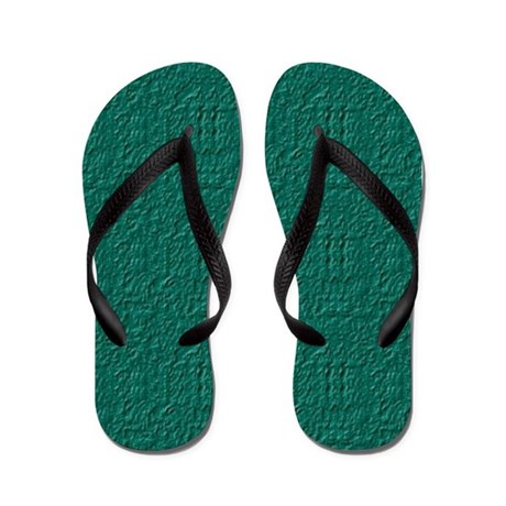 Rought Green Look 2 Flip Flops