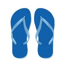 Textured Light Blue Look Flip Flops