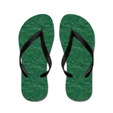 Textured Green Look Flip Flops