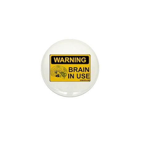 Brain in Use Mini Button (10 pack)