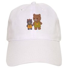 Teddy Bear Siblings Baseball Baseball Cap