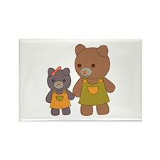 Teddy Bear Siblings Rectangle Magnet