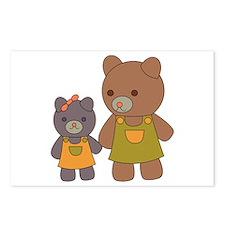 Teddy Bear Siblings Postcards (Package of 8)