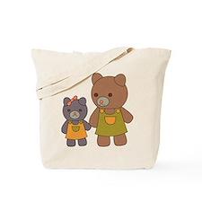 Teddy Bear Siblings Tote Bag